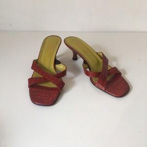 Donald J. Pliner Kiki Reptile Kitten Heel Sandals